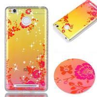 Patty gelový obal na Xiaomi Redmi 3S a 3 Pro - květiny