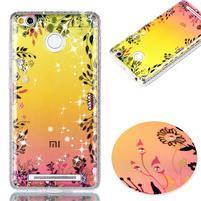 Patty gelový obal na Xiaomi Redmi 3S a 3 Pro - květinový motiv