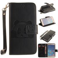 PandaStyle PU kožené pouzdro na mobil Xiaomi Redmi 3S - černé
