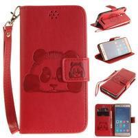 PandaStyle PU kožené pouzdro na mobil Xiaomi Redmi 3S - červené