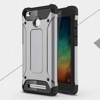 Guard odolný obal 2v1 na mobil Xiaomi Redmi 3S - stříbrný