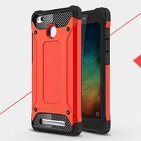 Guard odolný obal 2v1 na mobil Xiaomi Redmi 3S - červený