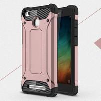 Guard odolný obal 2v1 na mobil Xiaomi Redmi 3S - růžovozlatý