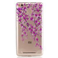 Emotive gelový obal na mobil Xiaomi Redmi 3S - kvetoucí větvičky