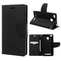 Diary PU kožené pouzdro na mobil Xiaomi Redmi 3S - černé