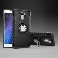 Ring odolný obal s držáčkem na Xiaomi Redmi 4 - černý