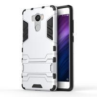 Defender odolný obal na mobil Xiaomi Redmi 4 - stříbrný