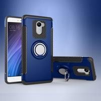 Ring odolný obal s držáčkem na Xiaomi Redmi 4 - modrý