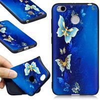 Motive gelový obal na Xiaomi Redmi 4X - modrý motýl