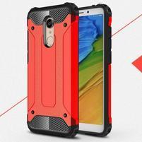 Armory hybridní odolný obal na Xiaomi Redmi 5 - červený