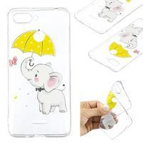 Print gelový obal na mobil Xiaomi Redmi 6 - slon s deštníkem a7182fc7285