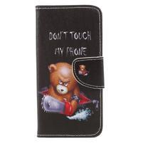 Emotive peněženkové zapínací pouzdro na Xiaomi Redmi Note 4X - Vzteklý méďa