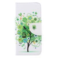 Emotive peněženkové zapínací pouzdro na Xiaomi Redmi Note 4X - zelený strom