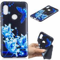 Patt gelový obal na mobil Xiaomi Redmi Note 6 Pro - modré květiny
