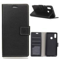 Litch PU kožené peněženkové pouzdro pro Xiaomi Redmi S2 - černé