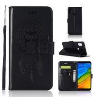 Dream PU kožené peněženkové pouzdro pro Xiaomi Redmi S2 - černé