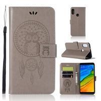 Dream PU kožené peněženkové pouzdro pro Xiaomi Redmi S2 - šedé