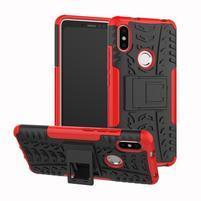Outdoor odolný hybridní obal pro Xiaomi Redmi S2 - červený
