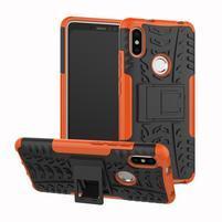 Outdoor odolný hybridní obal pro Xiaomi Redmi S2 - oranžový