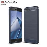 Carbon odolný gelový obal s broušením na Asus Zenfone 4 Pro ZS551KL - tmavě modrý