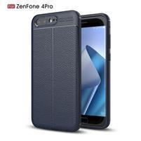 Litch gelový odolný obal s texturovanými zády na Asus Zenfone 4 Pro ZS551KL - tmavě modrý