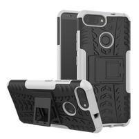 Outdoor odolný obal s výklopným stojánkem na Asus Zenfone Max Plus (M1) ZB570TL - bílý