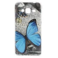 Piells gelový obal na mobil Samsung Galaxy J3 (2016) - modrý motýl