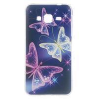 Piells gelový obal na mobil Samsung Galaxy J3 (2016) - kouzelní motýlci