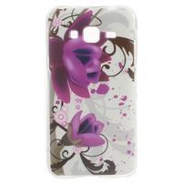 Miells gelový obal na mobil Samsung Galaxy J3 (2016) - fialový květ