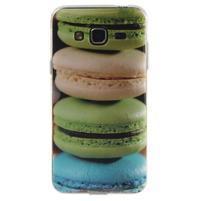 Funy gelový obal pro Samsung Galaxy J3 (2016) - makrónky