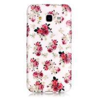 Softy gelový obal na mobil Samsung Galaxy J3 (2016) - koláž květin