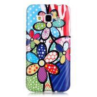Softy gelový obal na mobil Samsung Galaxy J3 (2016) - barevné květiny