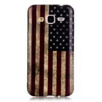 Softy gelový obal na mobil Samsung Galaxy J3 (2016) - US vlajka