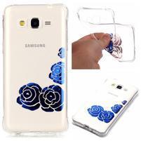 Lacque gelový obal pro Samsung Galaxy J3 (2016) - modré růže