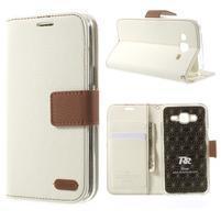 Stylové peněženkové pouzdro na Samsung Galaxy J5 - bílé