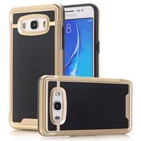 GX9 odolný hybridní obal 2v1 na Samsung Galaxy J5 (2016) - zlatý