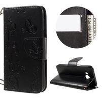 MagicFly PU kožené pouzdro pro Samsung Galaxy J5 - černé