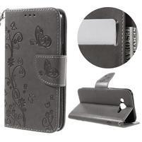 MagicFly PU kožené pouzdro pro Samsung Galaxy J5 - šedé