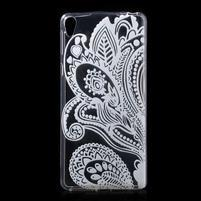 Ultratenký gelový obal na Sony Xperia E5 - květina