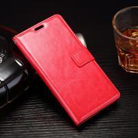 Horss PU kožené pouzdro na Sony Xperia E5 - červené