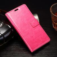 Horss PU kožené pouzdro na Sony Xperia E5 - rose
