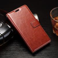 Horss PU kožené pouzdro na Sony Xperia E5 - hnědé