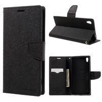 Diary PU kožené pouzdro na mobil Sony Xperia XA Ultra - černé