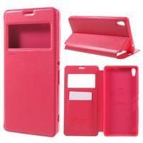 Richi PU kožené pouzdro s okýnkem na Sony Xperia XA Ultra - rose