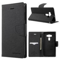 Diary PU kožené pouzdro na mobil Asus Zenfone 3 Deluxe - černé