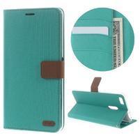 Diary peněženkové pouzdro na mobil Asus Zenfone 3 Ultra - cyan