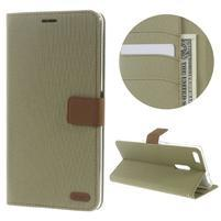 Diary peněženkové pouzdro na mobil Asus Zenfone 3 Ultra - khaki