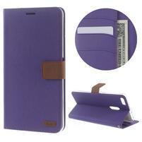 Diary peněženkové pouzdro na mobil Asus Zenfone 3 Ultra - fialové