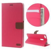 Diary peněženkové pouzdro na mobil Asus Zenfone 3 Ultra - rose