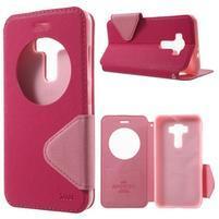 Diary pouzdro s okýnkem na mobil Asus Zenfone 3 ZE520KL - rose